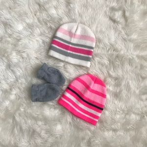 e0f2f91c1132a Old Navy Baby Hats Mitten Bundle